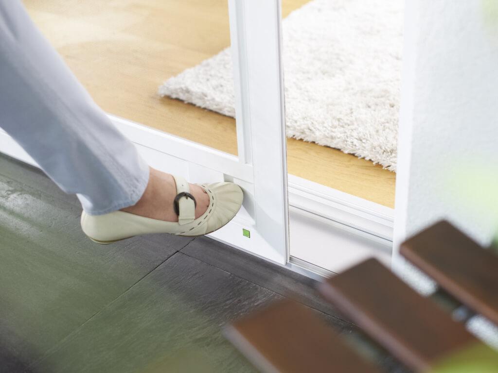 Schiebetüren Fußbedienung
