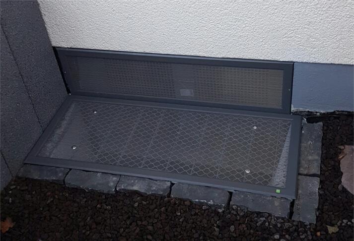 Referenzen Lichtschachtabdeckungen in Essenheim (nachher)