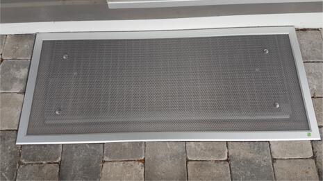 Referenzen Lichtschachtabdeckung in Essenheim (nachher)