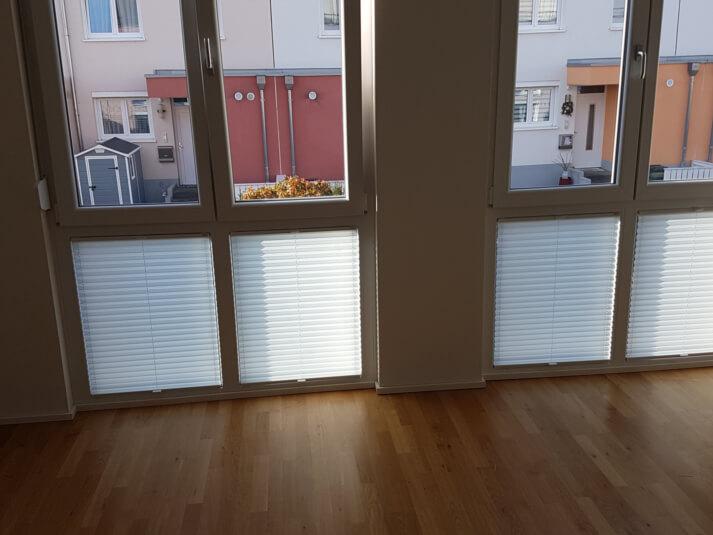 Referenzen Sonnenschutzplissees in Mainz (nachher)
